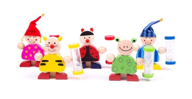 Zahnputzuhr Sanduhr Geschenk Holzspielzeug Badezimmer Kinder Holz Zähne Uhr neu