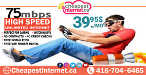 Hurry Up! 75mbps Unlimited Internet in $39.95 Per Month