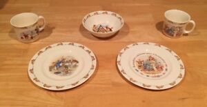 2 Bunnykins Dinner Sets by Royal Doulton