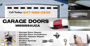 5.0 ⭐⭐⭐⭐⭐ GARAGE DOOR REPAIR Mississauga ☎️ Call 647-503-4333