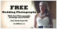 FREE PHOTOGRAPHY With Any Videography Package Over $2499