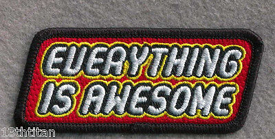 Hook patch Everything is Awesome Brick Lover Morale tactical Lego