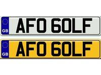 """"""" GOLF """" TDI OR GTI A PRIVATE NUMBER PLATE FOR SALE"""