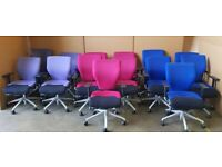 ORANGE BOX - X10 - TASK CHAIRS - Hi QUALITY - VG COND - ( 9 X AVAILABLE )