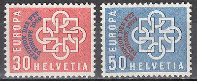 Schweiz / Helvetia Nr. 681-682** Europäische Konferenz der PTT-Verwaltungen