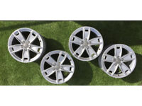"17"" set Genuine AUDI alloy wheels pcd : 5x112 Audi, Caddy , Golf"