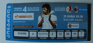Ticket for collectors Kakha Kaladze friends AC Milan 2012 Tbilisi Georgia Italy - <span itemprop=availableAtOrFrom>Internet, Polska</span> - Ticket for collectors Kakha Kaladze friends AC Milan 2012 Tbilisi Georgia Italy - Internet, Polska