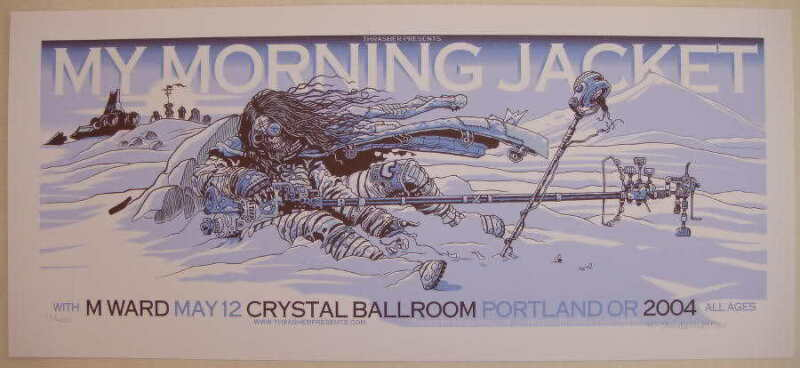 2004 My Morning Jacket - Portland Silkscreen Concert Poster Guy Burwell S/N