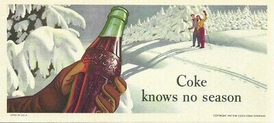 Vintage 'Coca Cola' Ink Blotter - 1947 - near mint