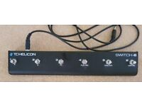 TC HELICON Vocal /guitar multi effect 6 switch floor pedal .