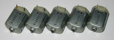 5 X Miniature Project Dc Motors - Mabuchi Fc-130 - 12 Vdc - 4800 Rpm Short Shaft