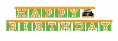 Tractor Time Farm Party Supplies 5.6' Happy Birthday Banner - Tractor Birthday Supplies