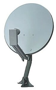 "Used 18"" Satellite Dish, arm, mounting bracket, LNB"