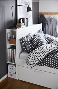 Ikea Bed frame with storage & headboard