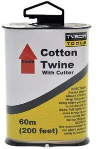 Cotton Twine 60 Meters With Cutter  (200feet) Length