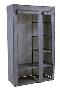 Double Wardrobe (Grey) -NEW and already ASSEMBLED