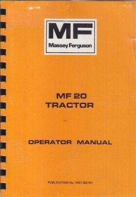 MASSEY FERGUSON MF20 TRACTOR OPERATION & MAINTENANCE MANUAL