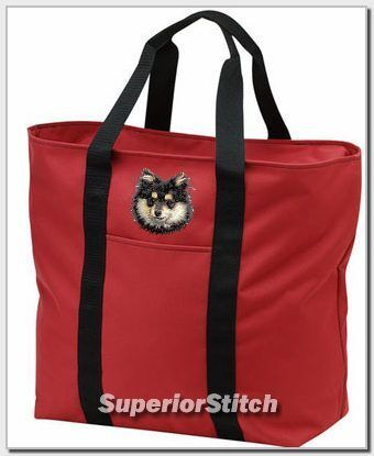 POMERANIAN embroidered tote bag ANY COLOR