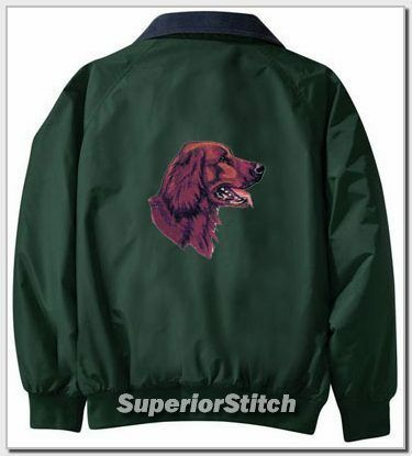 IRISH SETTER embroidered Challenger jacket ANY COLOR B