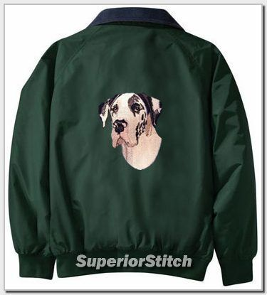 GREAT DANE embroidered Challenger jacket ANY COLOR B