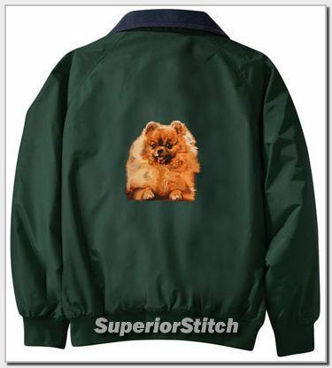 POMERANIAN embroidered Challenger jacket ANY COLOR B