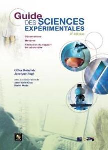 Guide des Sciences Experimentales de Gilles Boisclair 3e ed