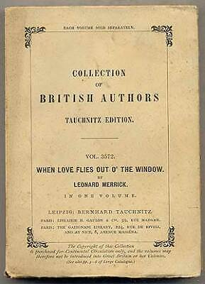 Leonard MERRICK / When Love Flies Out O' The Window 1902 for sale  Shipping to India