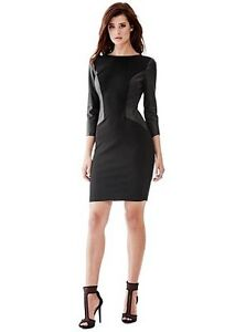 Guess faux leather dress NWT Small