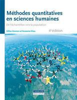 Méthodes quantitatives en sciences humaines, 4ième édition