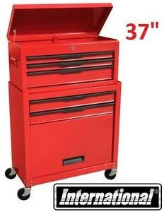 NEW* INTERNATIONAL TOOL CABINET W/ STORAGE COMPARTMENT 5-DRAWER COMBO 109470216