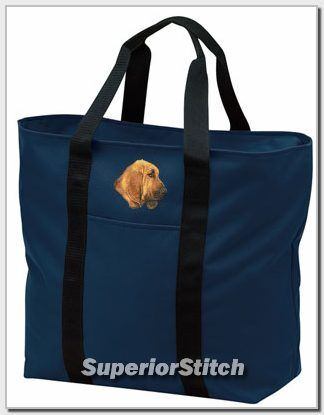 BLOODHOUND embroidered tote bag ANY COLOR