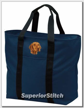 VIZSLA embroidered tote bag ANY COLOR