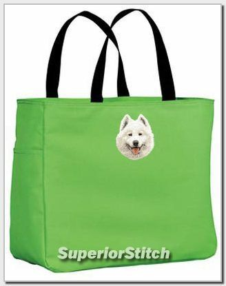 SAMOYED embroidered essential tote bag ANY COLOR