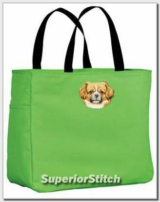 TIBETAN SPANIEL essential tote bag ANY COLOR