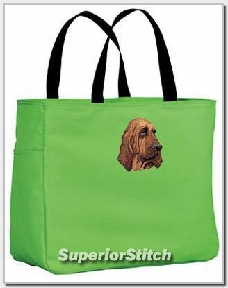 BLOODHOUND embroidered essential tote bag ANY COLOR