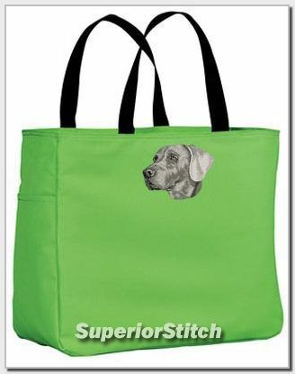 WEIMARANER embroidered essential tote bag ANY COLOR