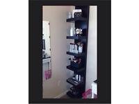 Ikea Lack black shelf