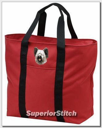SKYE TERRIER embroidered tote bag ANY COLOR