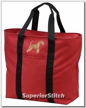 LAKELAND TERRIER embroidered tote bag ANY COLOR