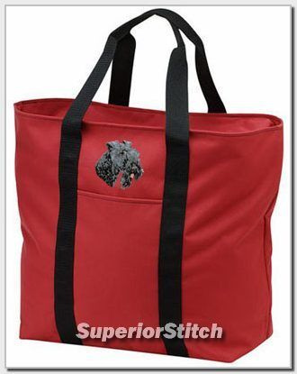 KERRY BLUE TERRIER embroidered tote bag ANY COLOR