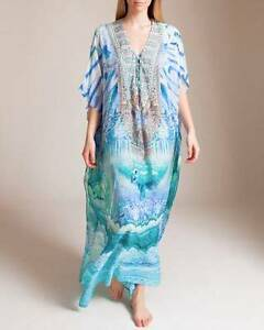 Camilla Topkapi Sky Long Lace Up Kaftan - New Silverdale Wollondilly Area Preview