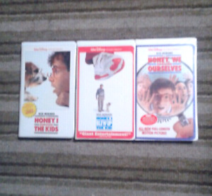 Honey I Shrunk the Kids collections Walt Disney movies on VHS