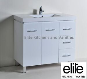 Bathroom Vanity Unit 900mm Polymarble Basin