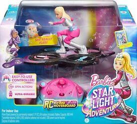 Brand new BarbieStar Light Adventure RCHoverboard / drone. BNIB Rrp £65 toysrus