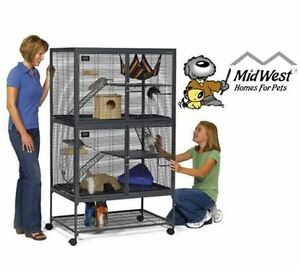 "NEW MIDWEST ANIMAL HABITAT W/ STAND Double Unit, 36""x 24""X63"" fe"