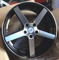 "18""CONCAVE! black w/machined face RIMS&TIRES! DW209 bmw"