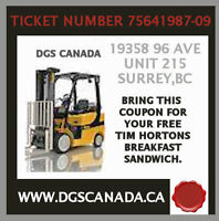 Forklift Training on Weekend - DGS CANADA