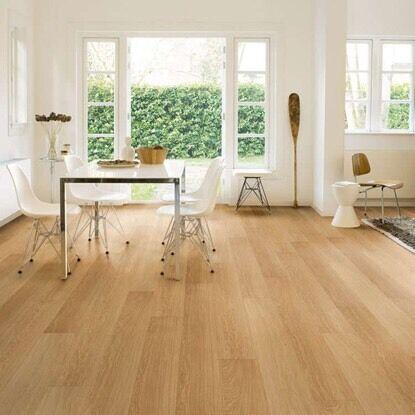 Laminate floor fitting