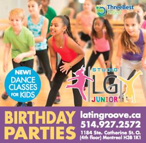 Cours de danse pour enfants / Kids dance classes / studio rental