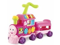 Toys - Lovely pink train Ride on - Half price (Animals & Birds Chart Free)